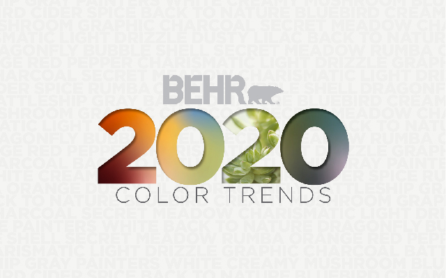BEHR TENDENCIAS DE COLOR 2020